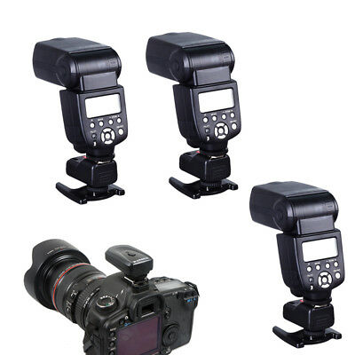 PT-04GY 4 Channels Wireless/Radio Flash Trigger +3 Receivers for Canon Nikon
