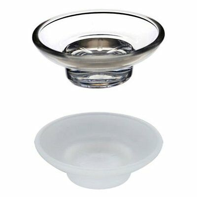 2~4PCS Glass Soap Dish Replacement Spare for Bathroom Accessory Universal Holder