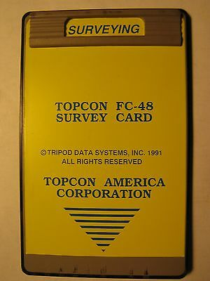 Topcon FC-48 SURVEY CARD FOR THE HP 48SX CALCULATOR