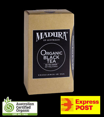 ORGANIC BLACK TEA BAGS Australian Certified * BULK SAVE * 50, 100, 200