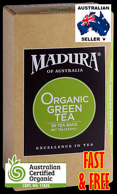 ORGANIC GREEN TEA BAGS Australian Certified 50, 100, 200 *BULK SAVE*