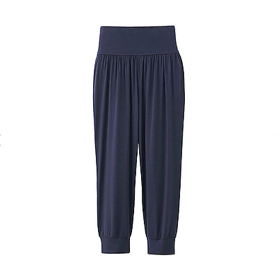 Uniqlo Airism Cropped Pants Size S M Maternity Navy Blue Most Comfy