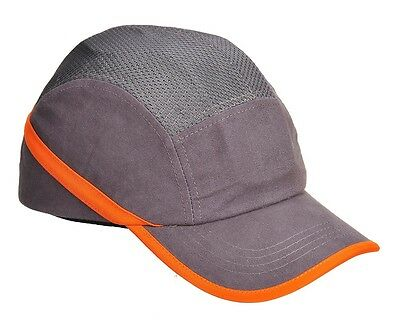 PORTWEST PW69 Vent Cool Bump Cap Baseball Style Hard Hat Safety Workwear GREY