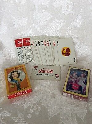 Lot Of (2) Vintage Coca-Cola Playing Cards! 1940's??? Advertising