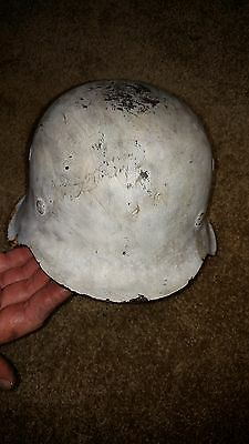Original German WW2 M42 Winter Camo helmet with liner