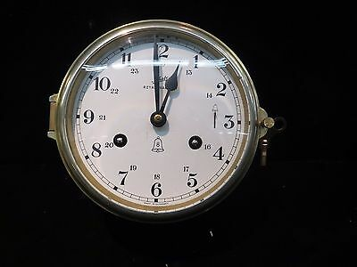 Vintage Schatz Royal Mariner 8 Day Ships Bell Clock Made In West Germany