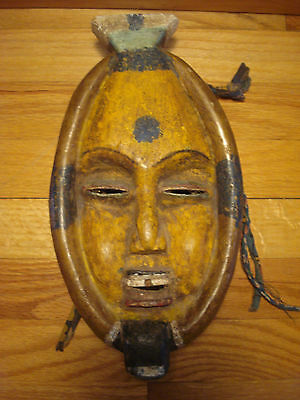 Rare OLD African painted tribal mask - carved - fabulous item
