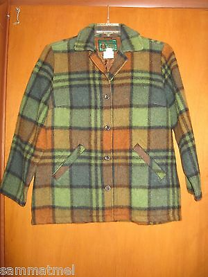 Women's Vintage Plaid CPO Work/Hunting Jacket Shirt ~DEA~ Deacon Brothers Large