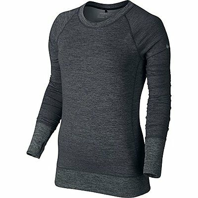 Nike Golf Women's Bunker Crew Top (Black/Wolf Grey/) Small CLOSEOUT 744374-010
