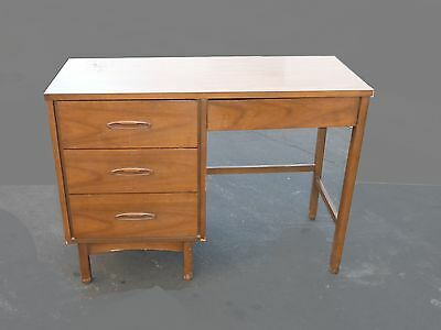 Vintage Danish Mid Century Modern Style Four Drawer Solid Wood WRITING DESK