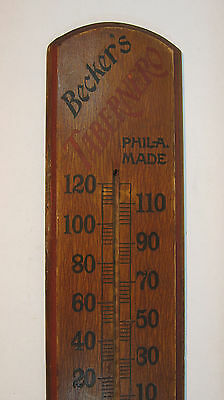 Becker's Tabernero 5 cent Cigar wooden advertising thermometer / Philadelphia,PA