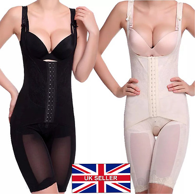 UK Ladies Slimming Corset All in One Full Bodysuit for Women Firm Control Girdle