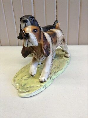 Two Spaniels On The Hunt Figurine