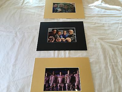 "Danny John Jules Red Dwarf hand signed 6"" x 4"" photo matted to 8""x10""+2xUnsigned"