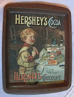 "VINTAGE 1982 HERSHEY'S CHOCOLATE COCOA KID CRYING TIP TRAY 6"" x 8"""