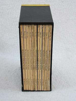 Lot of 11 NATIONAL GEOGRAPHIC MAGAZINE 1917 Complete Year Forest Family