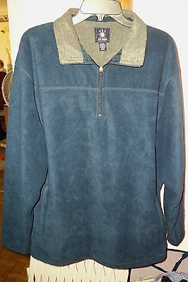 Men's Large Ivy Crew Long Sleeve Navy Blue Pull-Over Shirt