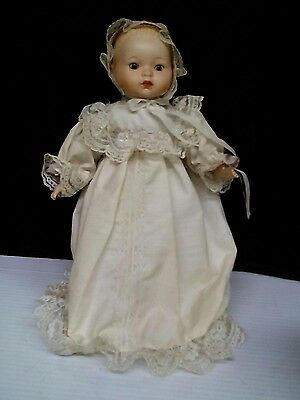 """Prince William 13"""" Infant Doll with Christening Gown in Bassinet with Lineage"""