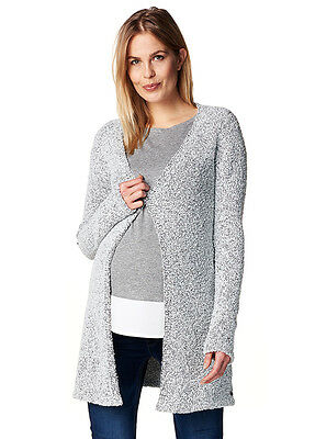NEW - Esprit - Open Knit Cardigan in Light Grey - Maternity Cardigan
