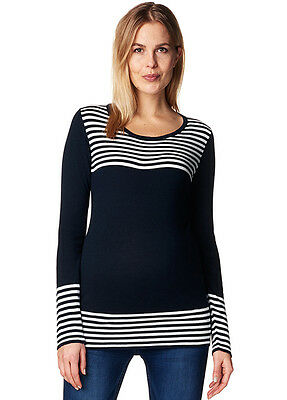 NEW - Esprit - Navy Breton Striped Knit Jumper - Maternity Jumper