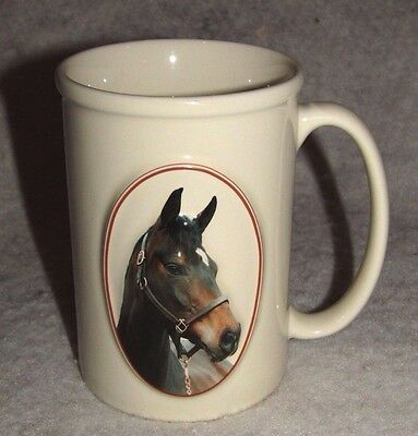 "Equine Expressions 3-D Coffee Mug with ""BAY HORSE"" ~Cute saying on back"