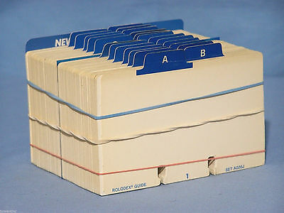Rolodex 3x5 Refill File Card Set Approx. 500 + 24 A-Z Index Tab Guide Cards