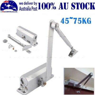 Adjustable Auto Door Closer Fire Rated 45~75KG Suits Inward & Outward AU Ship MQ