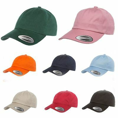 Authentic Yupoong Unisex Low Profile Cotton Twill Dad Hat Baseball Cap Cheap