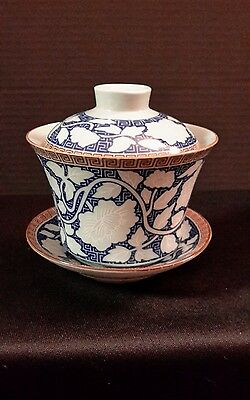 Gaiwan Porcelain Teacup With Lid And Saucer Set