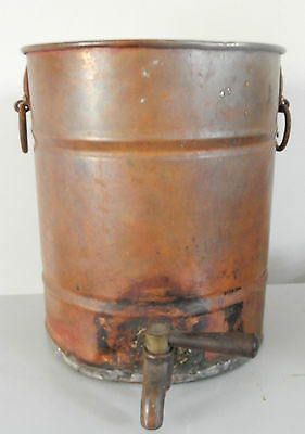 Vintage Copper Urn Water Tank With Tap Holds Water Needs A Shine Up