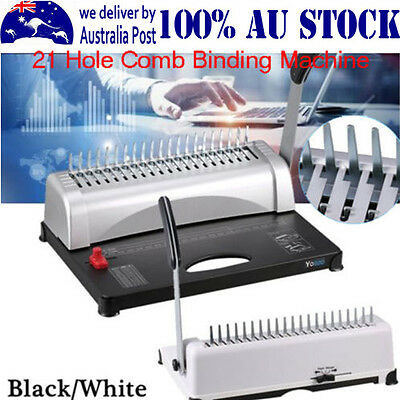 Professional Paper Comb Binding Machine 21 Hole A4 Plastic Coil Punch Binder IM