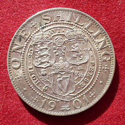 High-grade Great Britain shilling, 1901. KM# 780, Spink S. 3940A
