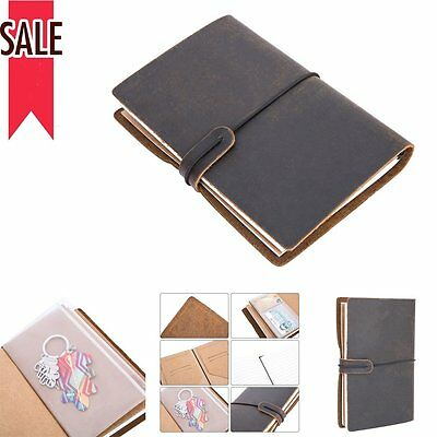 Brown Vintage Leather Blank Handmade Diary Notebook Planner Journal Travel Note