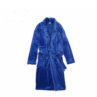 Supersoft Coral Fleece Bathrobe Dressing Gown Men's Women's Luxurious