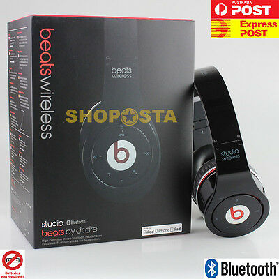 Beats By Dre Studio By Monster (WIRELESS Bluetooth & Wired Headphone) BLACK Open