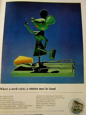 """1963 The Prudential Original Print Ad Better Mouse Trap-8.5 x 10.5"""""""
