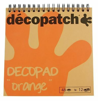 DecoPatch Block 48 Blatt Orangetöne Decoupage Papier Orange Bastelpapier fein