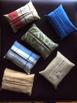 Travel Purse Size Tissue kleenex Covers Vintage Assorted Fabrics Colorful 6Pack