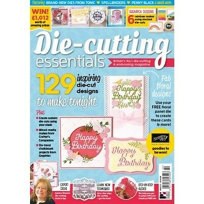 Die Cutting Essentials Magazine Issue 22 + Free Floral Happy Birthday Panel Die