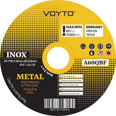 """Top Quality Metal Cutting Discs 1mm Thin 4 1/2"""" 115mm Angle Grinder Disc Steel"""