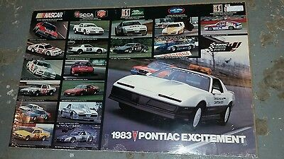 1983 Pontiac Excitement Racing poster/NASCAR/Trans Am/NHRA