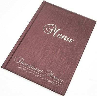30 X MENU COVER A4 catering holder 6 pockets folder pub restaurant PERSONALISED