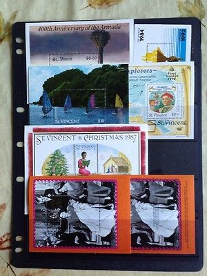 St Vincent MNH MIniature Sheets x7