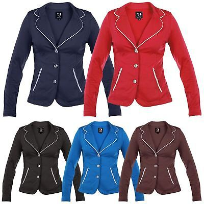 Horka Ladies Lightweight SoftShell Stretch Stras Horse Riding Competition Jacket