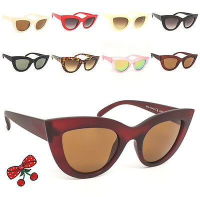 Women's Rockabilly Vintage Cat eye Sunglasses Retro 50's Pin Up Pointy Tip
