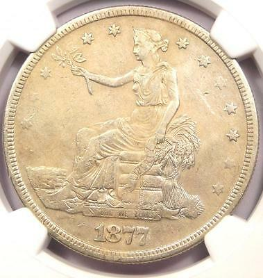 1877-S Trade Silver Dollar T$1 - NGC XF Details (EF) - Rare Certified Coin