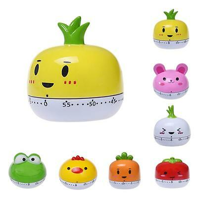 Hot Kitchen Egg Timer 60 Minutes Cute Vegetables Cooking Mechanical Home Decor