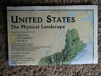 National Geographic Map, The Physical Landscape & Federal Lands, 1996