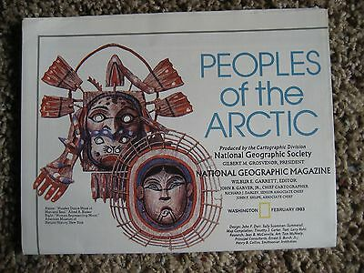 National Geographic Map, PEOPLES of the ARCTIC, 1983