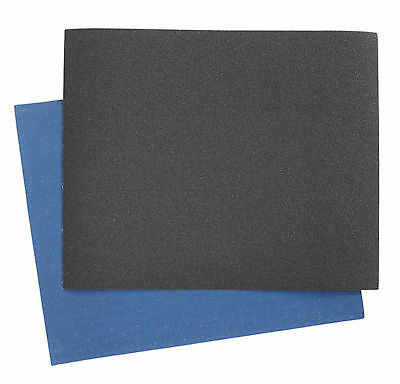 ES232840 Sealey Emery Sheet Blue Twill 230 x 280mm 40Grit Pack of 25